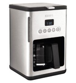 cafetera krups 10 tazas placa calefactora relor programable dual